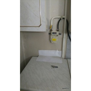 пример установки счетчика газа KG-2